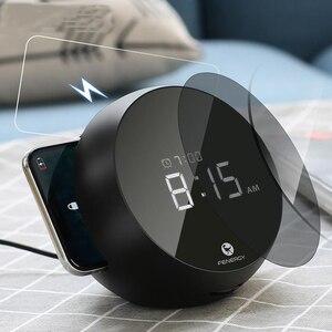 Image 1 - Vogek 10w Drahtlose Ladegerät Elektronische Uhr Wecker Handy Schnelle Lade Drahtlose Lade für Huawei Samsung