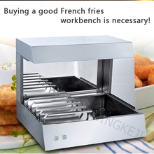 BS-8 Commercial Fries Workstation Desktop Stainless Steel Sub-package Insulation Display Cabinet Workbench
