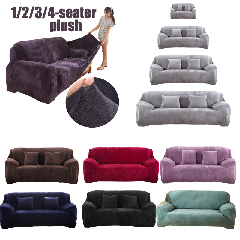 plush thick sofa covers velvet for living room soft keep warm furniture protector couch cover case