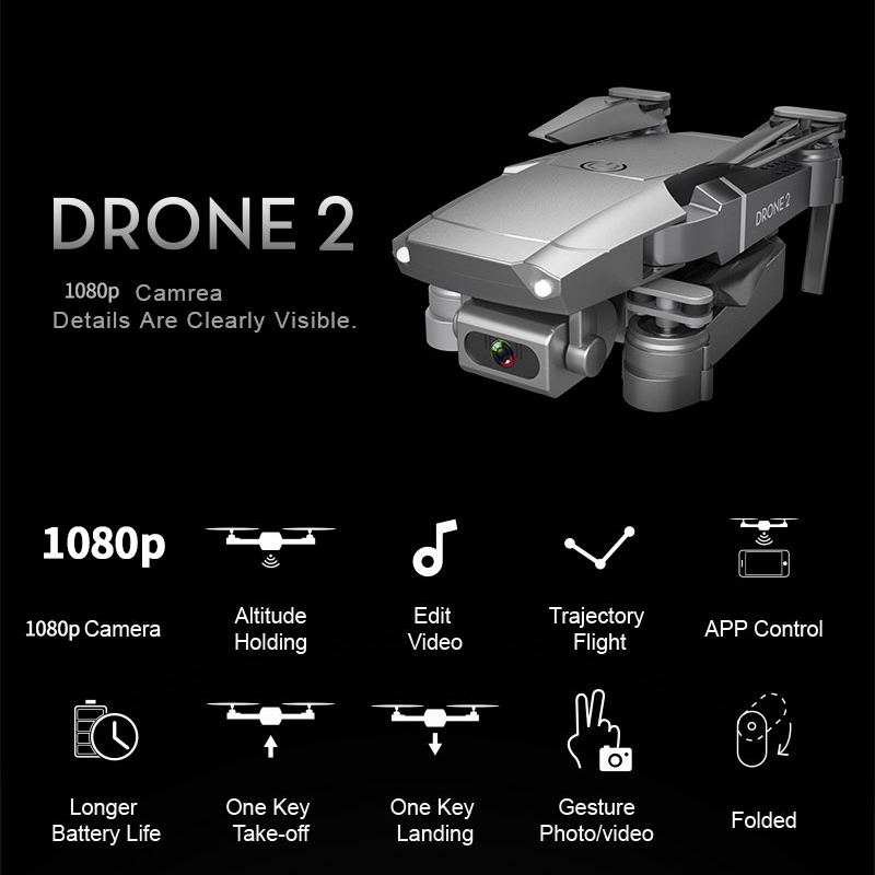 lowest price E68 RC FPV Drone Aircraft Foldable Quadcopter with 4K HD Camera Altitude Holding