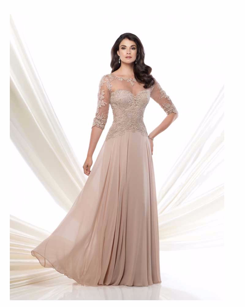 fast shipping in stock prom gowns chiffon and lace appliques handmade beading half sleeves champagne evening dresses