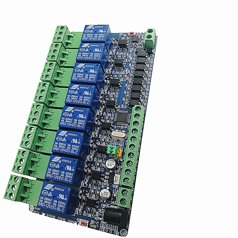 Modbus Port 8 Road Relay Output 8 Road Input Rs485 Ttl Optional Second Acrylic Shell