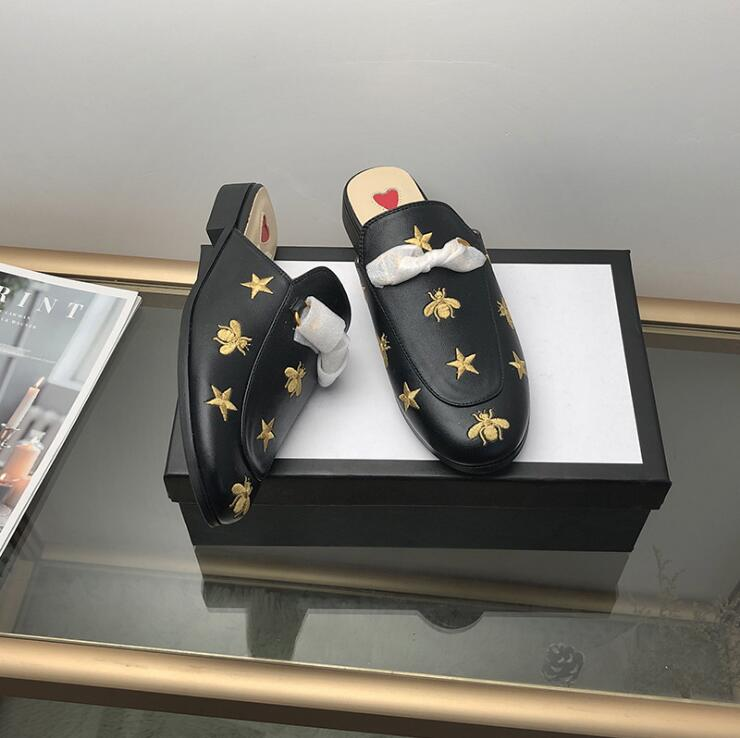 luxe casual shoes women designer slides,Smoking Slipper,Leather star slippers,fashion luxe designer slides on AliExpress