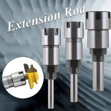 "1/4"" 8mm 1/2"" Shank Milling Cutter Extension Rod ER Collet Chucks Hard Alloy Router Bit End Mills Collet Tweezer For Woodworking(China)"