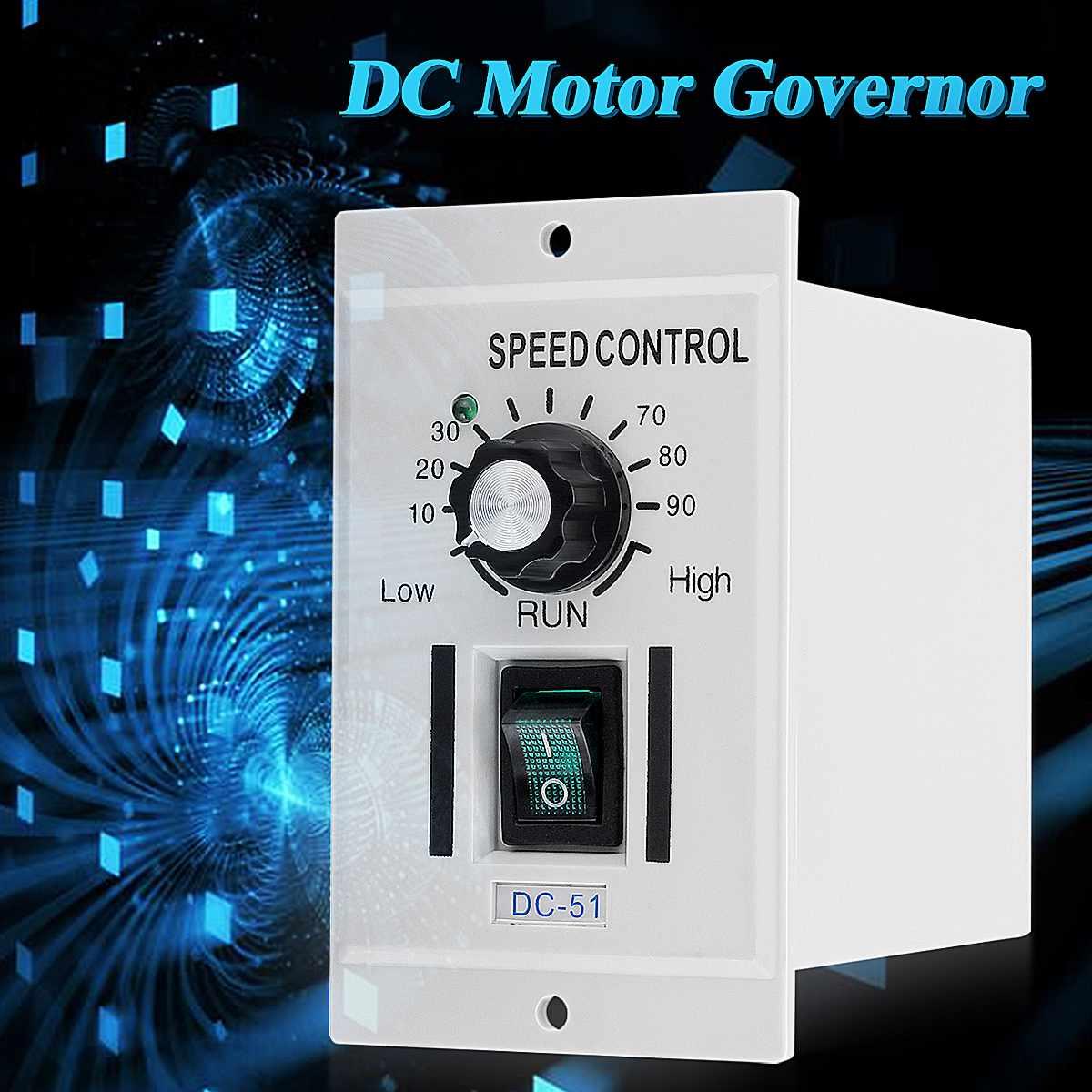 Digital 400W DC 0-90V Adjustable Speed Motor Controller Rotary Knob Voltage Regulator Controller DC Motor Variable Control