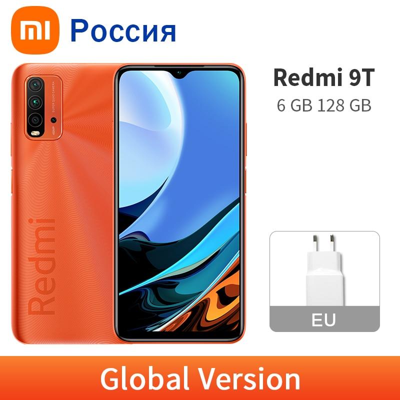 Новый Xiaomi Redmi 9T 128 ГБ 6 ГБ глобальная версия мобильного телефона 6000mAh аккумулятор большой емкости Snapdragon 662 48MP четырехъядерный смартфон с задне...