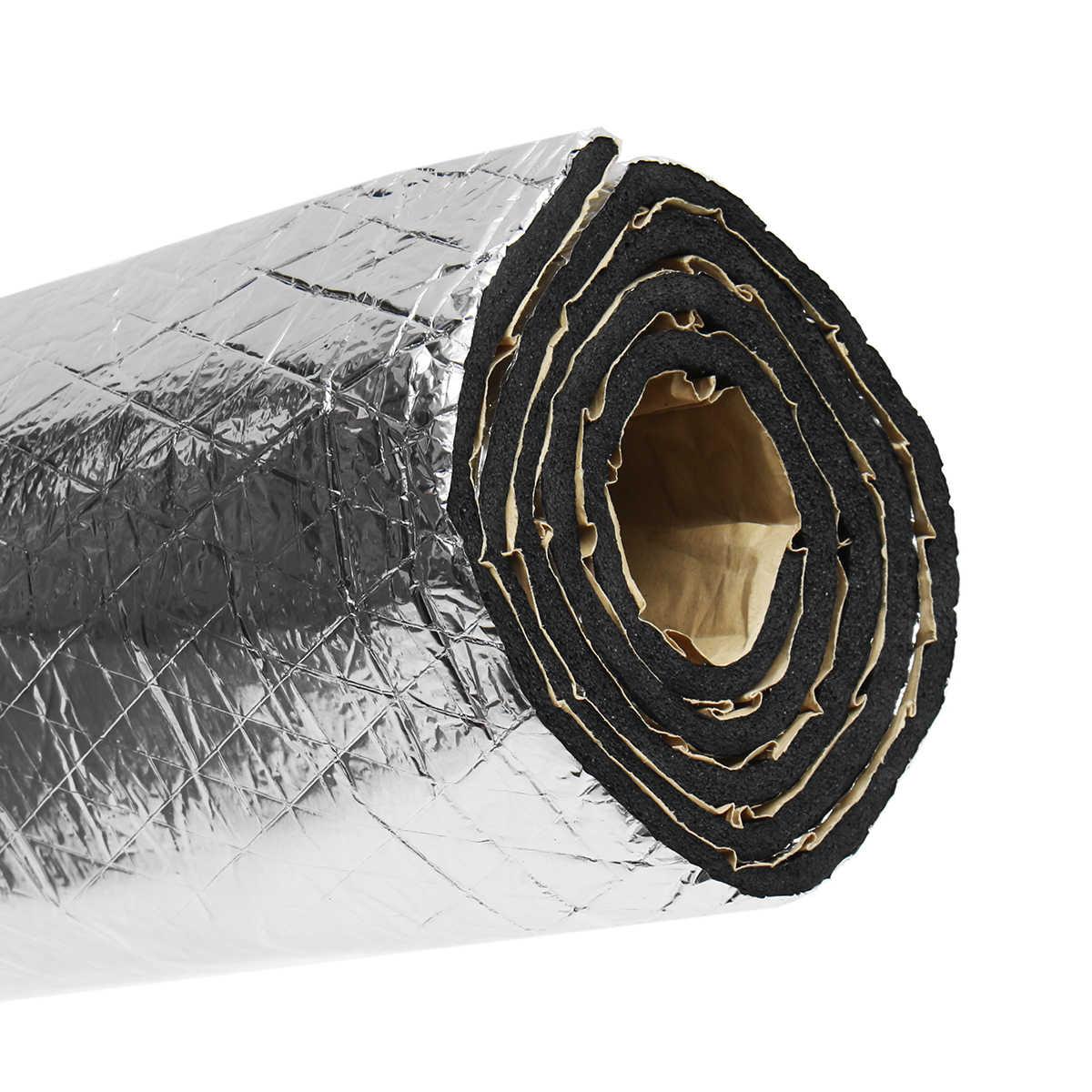 140x100cm 15 sqft voiture son Deadener Mat bruit capot isolation amortissement capot moteur pare-feu chaleur aluminium mousse autocollant