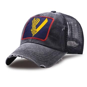 цена на Vikings Mesh Baseball Caps Men Fashion Sports Riding Cap Adjustable Unisex Snapback Hats Outdoor WashedRetro Women Trucker Hat