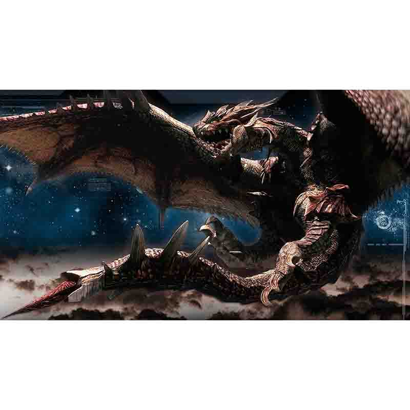 Monster Hunter World GSX PTCG Accessories ICE Borne Playmat Table Card Game Toys For Children HUNTER027