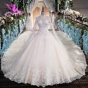 Image 2 - AIJINGYU 2021 חתונה שמלות הודי שמלות שקוף כדור בתוספת גודל Bridals מכירה מקורי סקסי חנויות מוסלמי שמלת כלה
