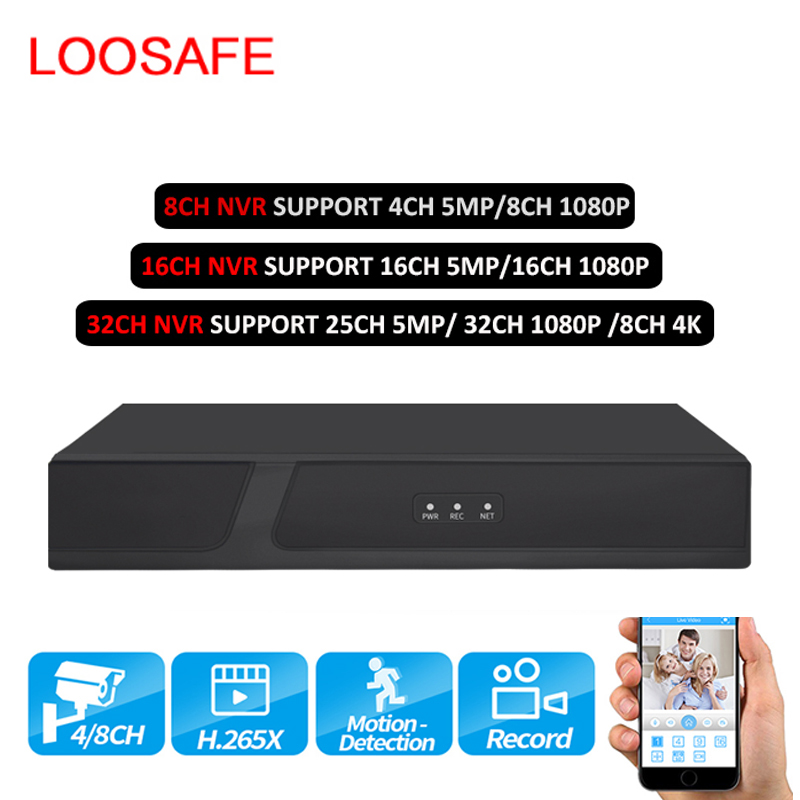H.265 4K 5MP 8CH 16CH 32CH NVR Network Video Recorder P2P Hi3536C CCTV IP Two SATA For Security Surveillance System ONVIF