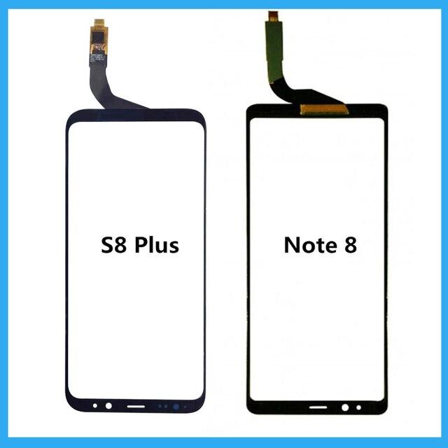 لسامسونج غالاكسي S8 زائد/نوت 8 لوحة اللمس قطع غيار سامسونج S8 زائد الأسود محول الأرقام بشاشة تعمل بلمس إصلاح لوحة الزجاج