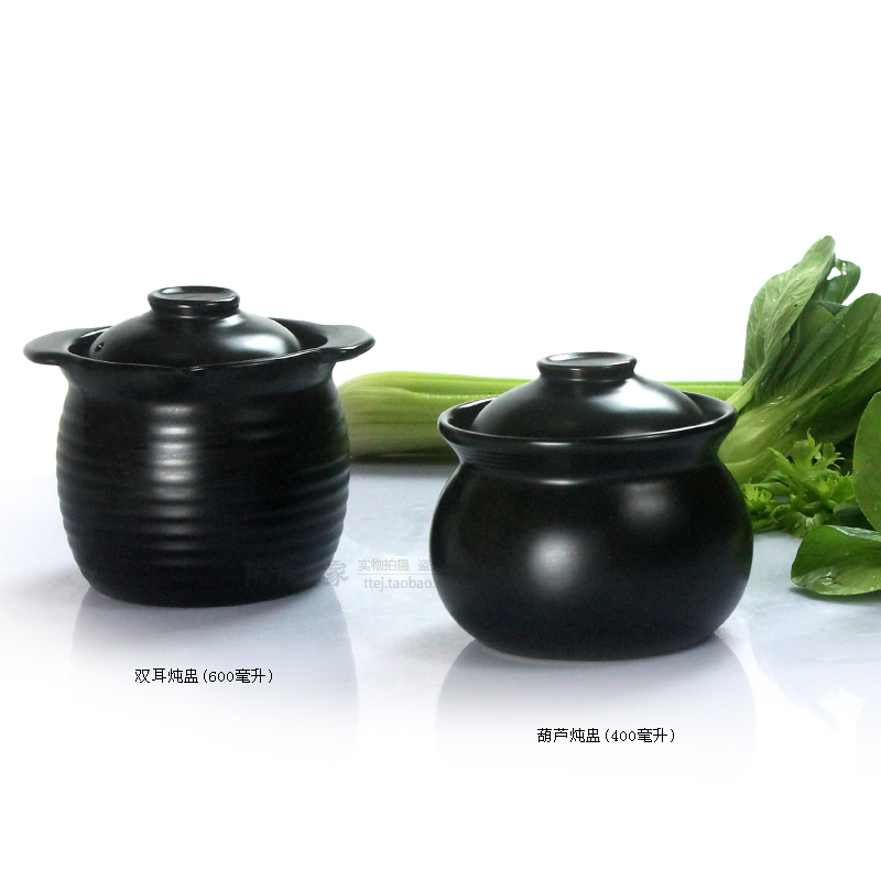Covered with water pottery small pot soup stew bird's nest stewed soup cup hotel tonic steamed porridge cup Chinese herb pan