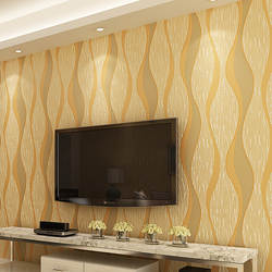 Современный минималистичный нетканый материал 3D абстрактный волнистый узор в полоску обои для спальни отеля Украшение прохода гостиная