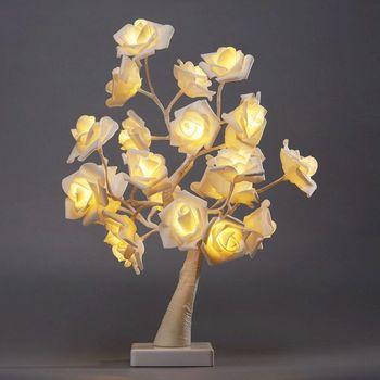 Amazon Heißer Verkauf 24 Lampe PE Rosa Rose Kleine Baum Lichter Urlaub Schlafzimmer Dekorative Lichter Valentinstag Liefert Kleine nacht| |   -