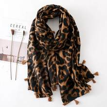 Designer scarf 2020 women autumn spring Spain style Linen sexy long leopard print scarf muffler ladies office scarves DC512(China)
