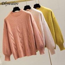 Cashmere Rib Pullover Sweater Women Loose Turtleneck Sweater Female Fashion Jumper Keep Warm Korean Tops Pull Femme 2019 Winter