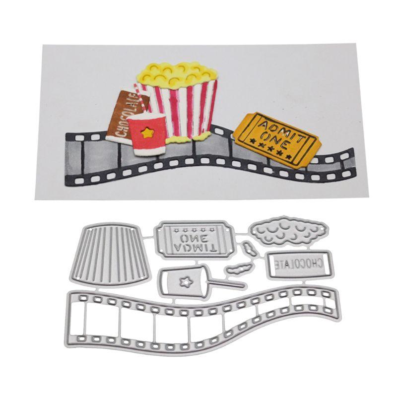 Food Metal Cutting Dies Stencil Scrapbooking DIY Album Stamp Paper Card Embossing Decor Craft - 1