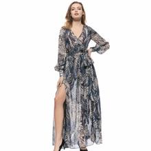 Elegant Office Lady Dress Vintage Instagram Fashion Floral Woman Clothing Vogue V-neck Runway Dresses Streetwear 2019