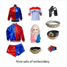 Карнавальные костюмы для косплея Harleen Quinzel, костюмы для вечевечерние НКИ, жакет Джокера, парик, перчатки