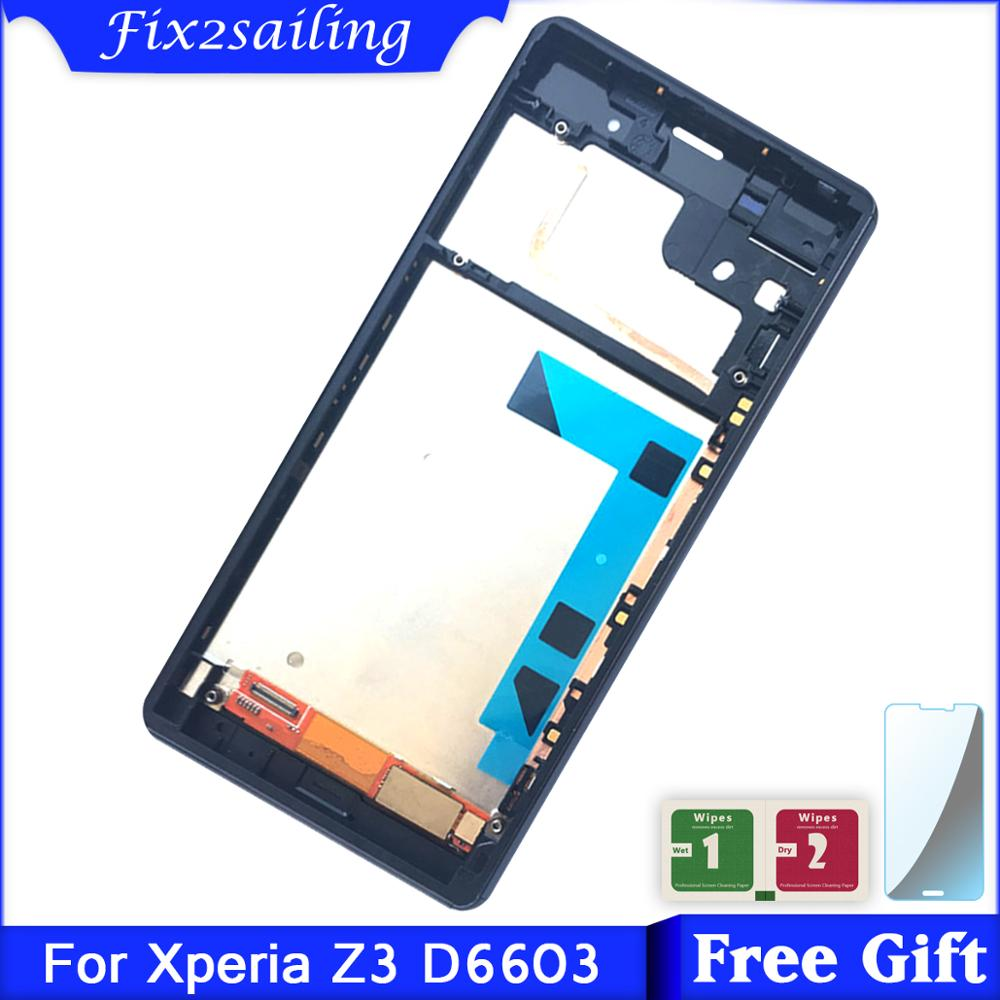 For <font><b>SONY</b></font> Xperia <font><b>Z3</b></font> LCD for <font><b>Sony</b></font> <font><b>Z3</b></font> Display Touch Screen with Frame <font><b>D6603</b></font> D6633 D6653 image