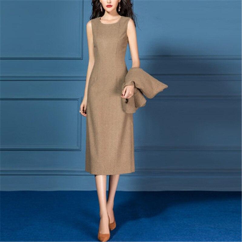 Dress Suits Women Business Suit Jacket Formal Office Ladies Work Wear Vintage Plaid Slim Elegant 2 Piece Set Female Plus Size