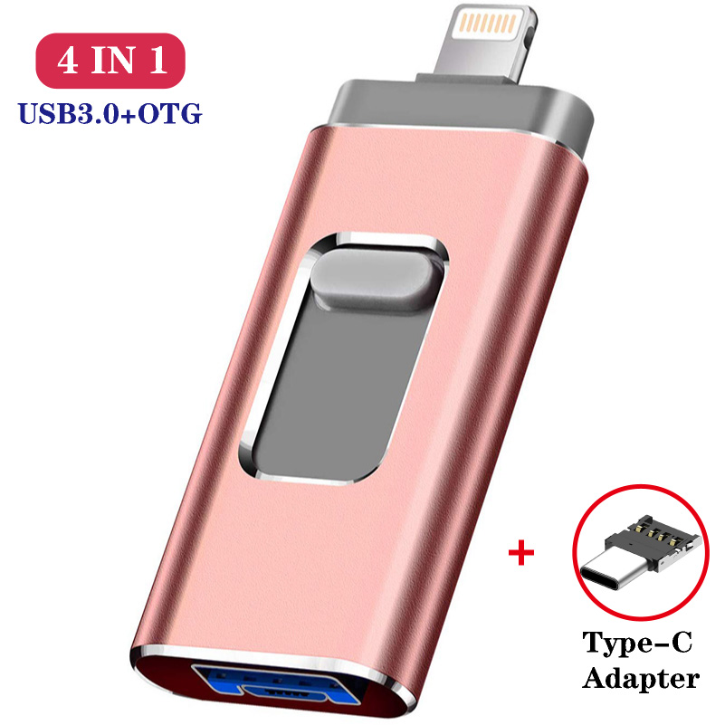 For Iphone Lightning Ios OTG Flash Drive Memory Stick Type C Pendrive Type-c USB Flash Drive 16GB 32GB 64GB Pen Drive Usb3.0