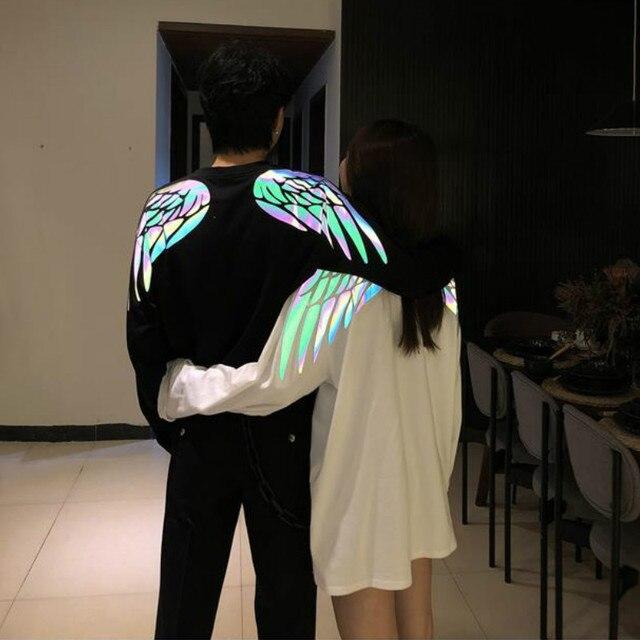 Мужская/женская футболка с длинным рукавом, с принтом в виде крыльевФутболки    АлиЭкспресс