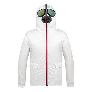 Image 2 - Lawrenceblack מעילי גברים עם משקפיים מגן סרבל ברדס מעיל Mens פנים כיסוי ילדי Windproof מעיל