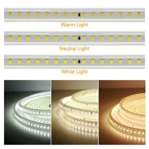 Image 3 - 220 فولت LED قطاع 2835 سلامة عالية سطوع عالية 120 المصابيح/م مرنة LED إضاءة خارجية مضادة للماء LED قطاع الخفيفة.