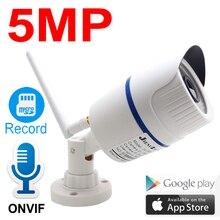 Jienuo câmera residencial, 5mp wi fi ip 1080p de alta definição áudio à prova d água, cctv sem fio onvif câmera doméstica