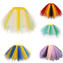 Short Skirt Adult Tutu Vintage Fashion Woman Pleated Dancing New