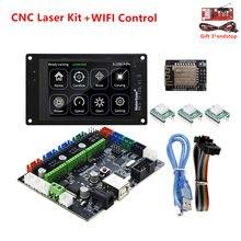Grbl 1.1 offline monitor cnc 3018 pro kit de atualização cartão controle tft35 display cnc mks dlc para desktop máquina gravação a laser