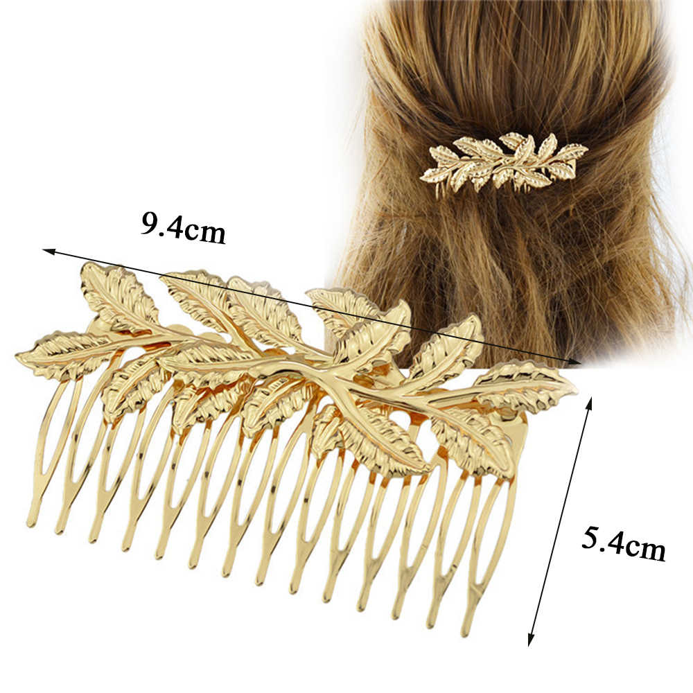 Biżuteria do włosów ślubna koreańskie złote liście opaski do włosów wianek Vintage Pearl diadem akcesoria ślubne dla kobiet