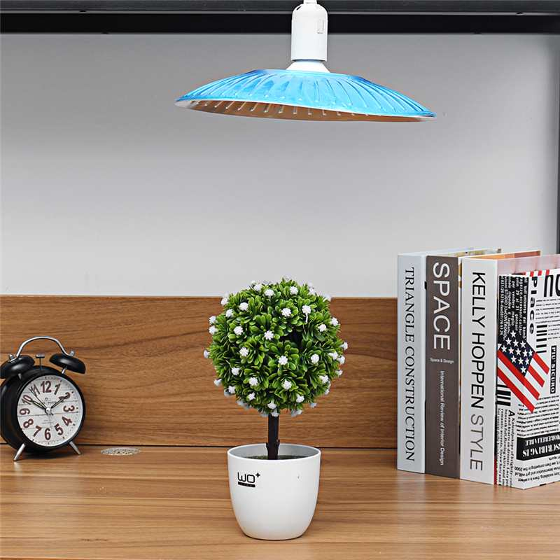 50W Grow Light E27  Plug Socket Bulb Full Spectrum Indoor Plant Lamp Hydroponic System AC220V For Flowers Growth Lights Chip