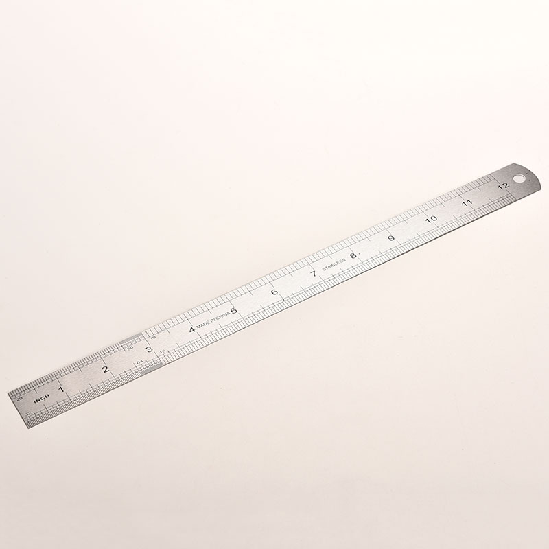 1 PC Stainless Steel Metal Ruler Metric Rule Precision Double Sided Measuring Tool 30cm