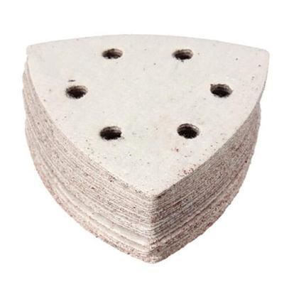 Multi-Function Delta Sand Paper Pads 93mm Triangle Hook Loop Sanding Sheet 80 Grit Sanding Paper 10pcs/lot