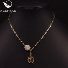 Xlentag ожерелье из натурального барочного жемчуга в стиле ретро