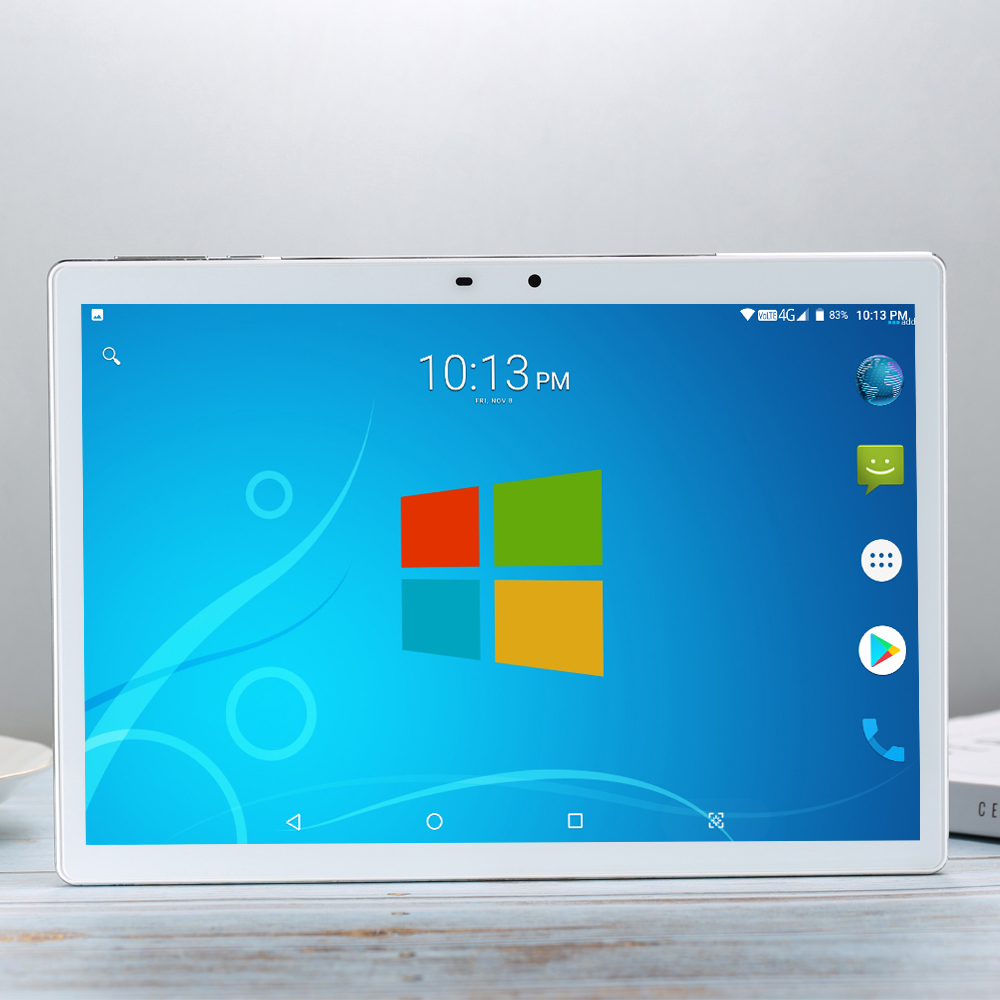 2020 Tempered 2.5D Glass 4G FDD LTE 10 Inch Tablet Pc Deca 10 Core 6GB RAM 256GB ROM 13MP 2.5D IPS Screen WIFI Android 7.1.1 GPS