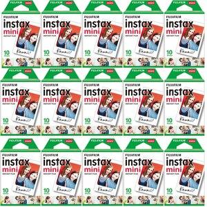 Image 1 - 10 200แผ่นFujifilm Instax Mini 11 9 8สีขาวขอบกว้าง3นิ้วสำหรับกล้องmini 8 7S 25 50S 90กระดาษ