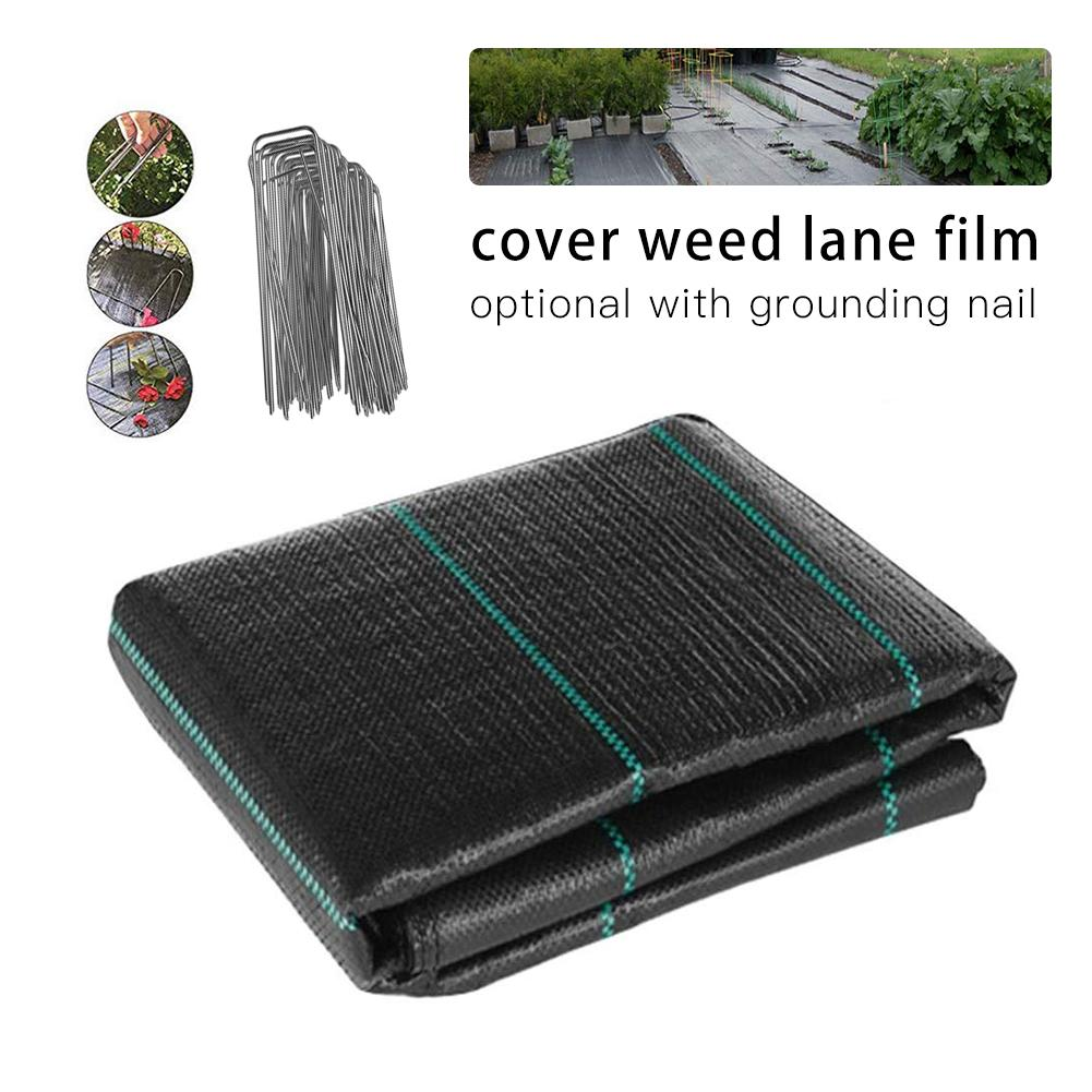New Ecological U Shaped Ground Nail Garden Grass Cloth Weed Control Fabric Film Sunshade Fly Net Pest Control Plastic Film Peg