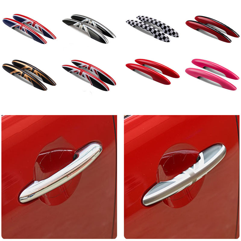 2Pcs Union Jack Car Door Handle Cover Stickers Decal For Mini Cooper JCW R55 Clubman R56 R57 R58 R59 R61 F54 F55 F56 F60