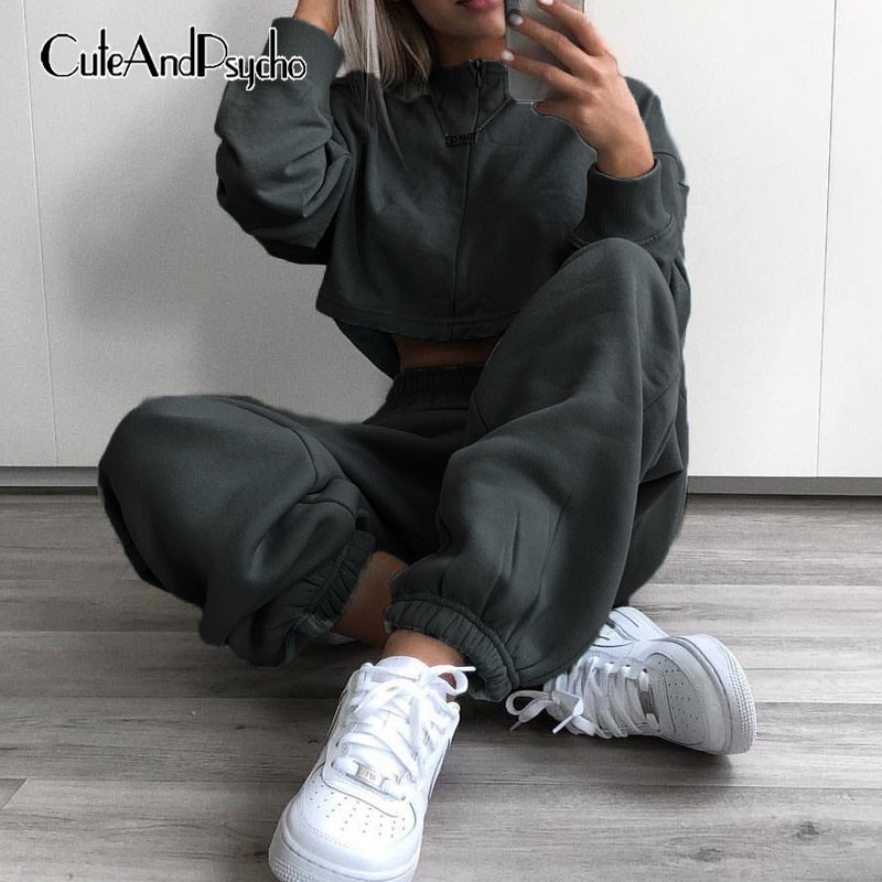 Cotton Dance Pants Women Plus Size High Waist Joggers Baggy Wide Leg Sweatpants Elastic Waist Trousers Streetwear Cuteandpsycho