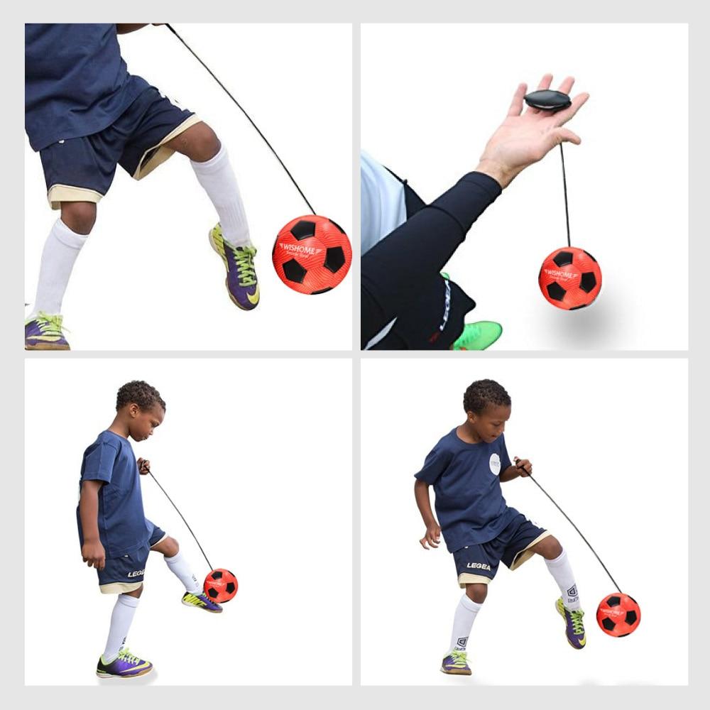 WISHOME Children Training Football Soccer Solo Trainer Kick Practice Training Futbol With Belt For Dribbling Sport Equipment