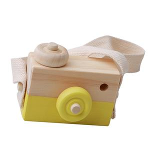 Camera Photography Prop-Decoration Kids Educational-Toy Wooden Christmas-Gifts Birthday