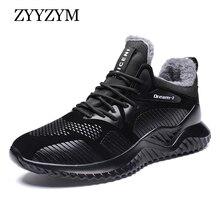 ZYYZYM Männer Winter Turnschuhe Herbst Männer Casual Schuhe Plüsch Warm Halten Männer Stiefel Mode Schuhe Für Männer Zapatos Hombre