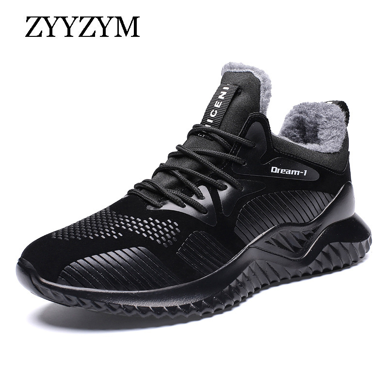 ZYYZYM Men Winter Sneakers Autumn Men Casual Shoes Plush Keep Warm Walking Shoes Men Fashion Shoes For Men Zapatos Hombre in Men 39 s Casual Shoes from Shoes