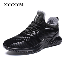 ZYYZYM Men Winter Sneakers Autumn Men Casual Shoes Plush Kee