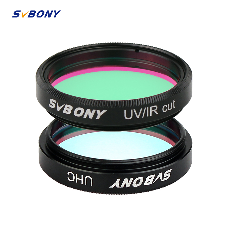 SVBONY 1.25'' UHC +UV-IR  2 Pcs Elimination Of Light Pollution Filters For Astronomy Telescope Eyepiece Observations Of Deep Sky