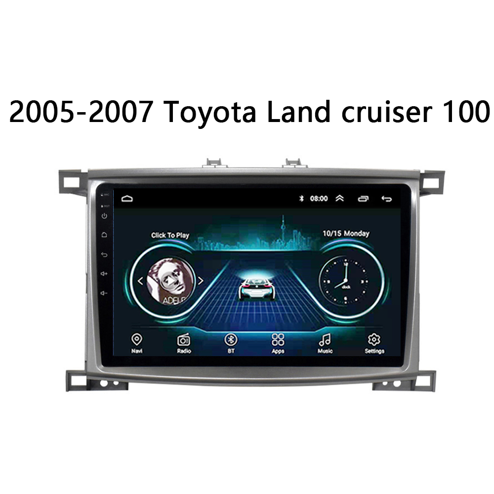 Car Radio for <font><b>Toyota</b></font> Land cruiser <font><b>100</b></font> LC100 <font><b>LC</b></font> <font><b>100</b></font> 2005-2007 multimedia player Auto radio Android 8.1 10.2
